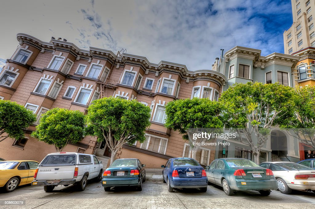 Tilted Building Illusion in San Francisco : Foto de stock