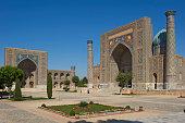 Tilya-Kori Madrasah and Sher-Dor Madrasah, Registan, Samarkand, Uzbekistan