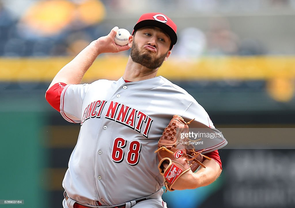 Tim Adleman #68 of the Cincinnati Reds pitches during the first inning against the Pittsburgh Pirates on May 1, 2016 at PNC Park in Pittsburgh, Pennsylvania.