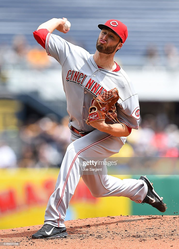 Tim Adleman #68 of the Cincinnati Reds pitches during the second inning against the Pittsburgh Pirates on May 1, 2016 at PNC Park in Pittsburgh, Pennsylvania.