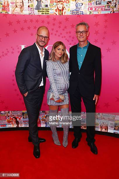 Tim Affeld Ina Aogo and Joerg Hausendorf attend the InTouch Awards 'Icons Idols' at Nachtresidenz on September 29 2016 in Duesseldorf Germany