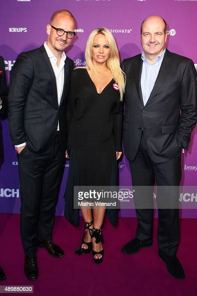Tim Affeld Pamela Anderson and Dirk Wiedenmann attend the Icons Idols No 3 event to celebrate the 10th anniversary of InTouch magazine on September...