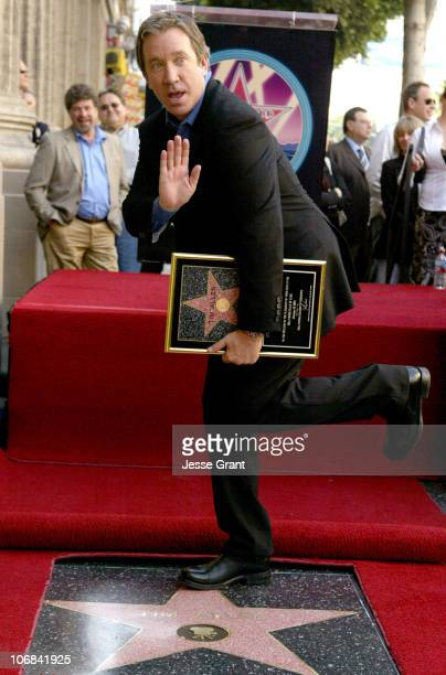 Tim Allen during Tim Allen Honored with a Star on the Hollywood Walk of Fame for His Achievements in Film at 6834 Hollywood Boulevard in Hollywood...