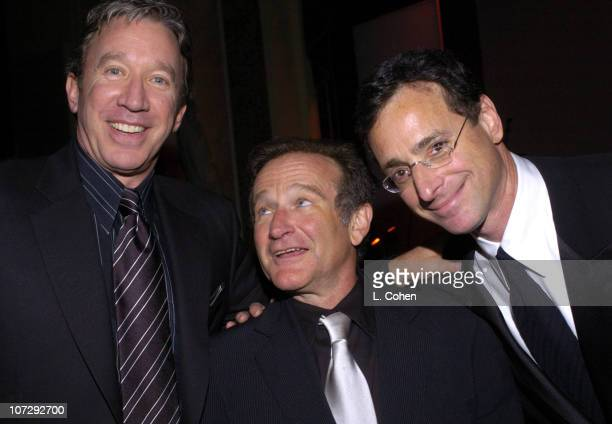 Tim Allen Robin Williams and Bob Saget during 13th Annual 'Cool Comedy Hot Cuisine' Benefit for Scleroderma Research Inside/Show at The Regent...