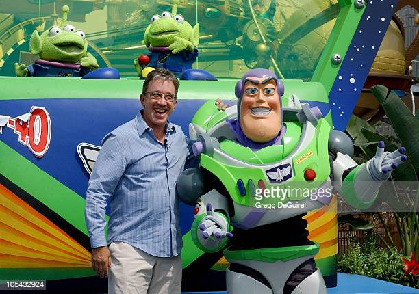 Tim Allen with Buzz Lightyear during Disneyland 50th Anniversary 'Happiest Homecoming On Earth' Celebration at Disneyland in Anaheim California...