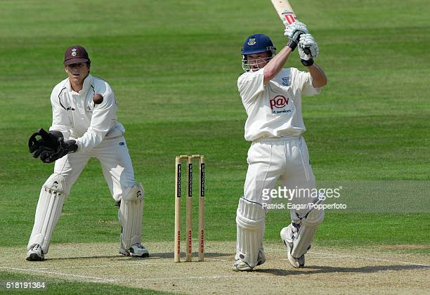 Tim Ambrose of Sussex batting during the County Championship match between Surrey and Sussex at The Oval London 31st May 2003 Jonathan Batty is the...