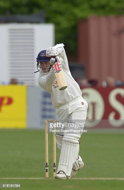 Tim Ambrose of Sussex drives during the Benson and Hedges QuarterFinal between Sussex and Warwickshire at Hove England 22nd May 2002 Warwickshire won...