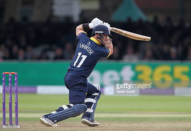 Tim Ambrose of Warwickshire bats during the Royal London OneDay Cup Final match between Surrey and Warwickshire at Lord's Cricket Ground on September...