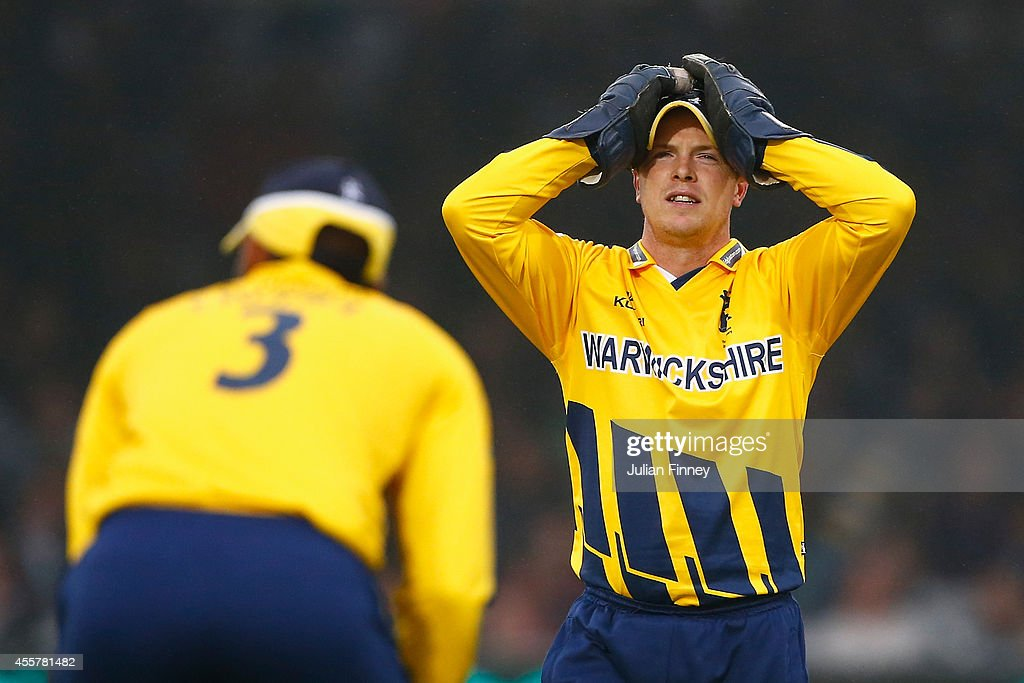Tim Ambrose of Warwickshire reacts during the Royal London OneDay Cup 2014 Final at Lord's Cricket Ground on September 20 2014 in London England