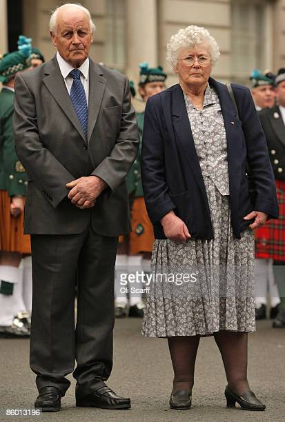 Tim and Queenie Fletcher the parents of WPC Yvonne Fletcher attend a ceremony to mark the 25th anniversary of the killing their daughter on April 17...