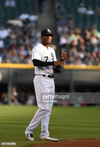 Tim Anderson of the Chicago White Sox plays against the Kansas City Royals during the first inning on August 12 2017 at Guaranteed Rate Field in...