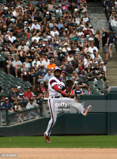Tim Anderson of the Chicago White Sox plays against the Seattle Mariners on July 16 2017 at Guaranteed Rate Field in Chicago Illinois