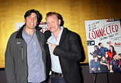 Tim Armstrong Chairman and CEO of AOL and Morgan Spurlock attend the 'Connected' Series Premiere at Tribeca Grand Hotel on March 30 2015 in New York...