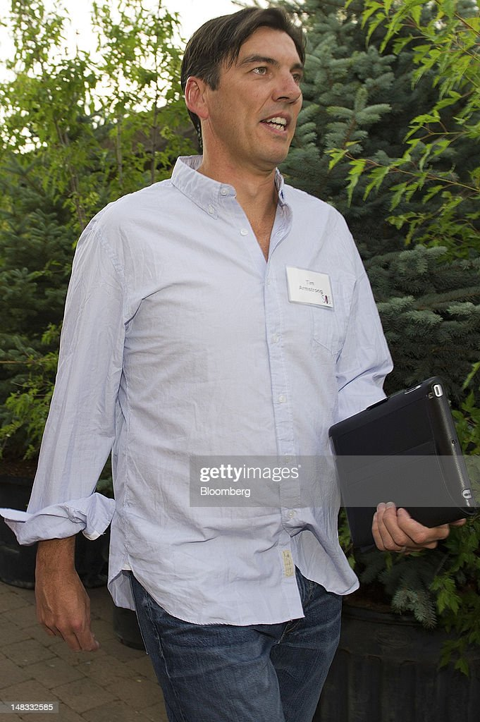 Tim Armstrong, chief executive of AOL Inc., arrives for the morning session at the Allen & Co. Media and Technology Conference in Sun Valley, Idaho, U.S., on Saturday, July 14, 2012. Some of the media industry's largest buyouts have been hatched or moved forward at Sun Valley, including Comcast Corp's 2011 purchase of NBC Universal. Photographer: David Paul Morris/Bloomberg via Getty Images