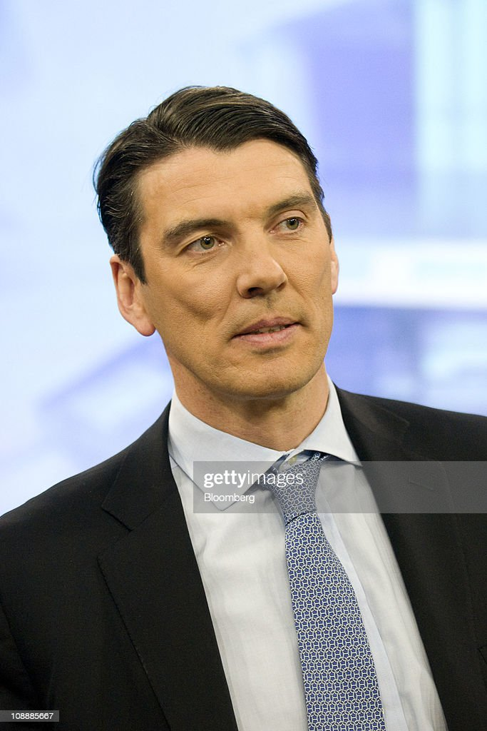 Tim Armstrong, chief executive officer of AOL Inc., listens during a Bloomberg Television interview in New York, U.S., on Monday, Feb. 7, 2011. AOL Inc. agreed to buy the Huffington Post for $315 million as the internet company spun off from Time Warner Inc. increases its investments in online content to help revive growth in advertising revenue. Photographer: Jonathan Fickies/Bloomberg via Getty Images
