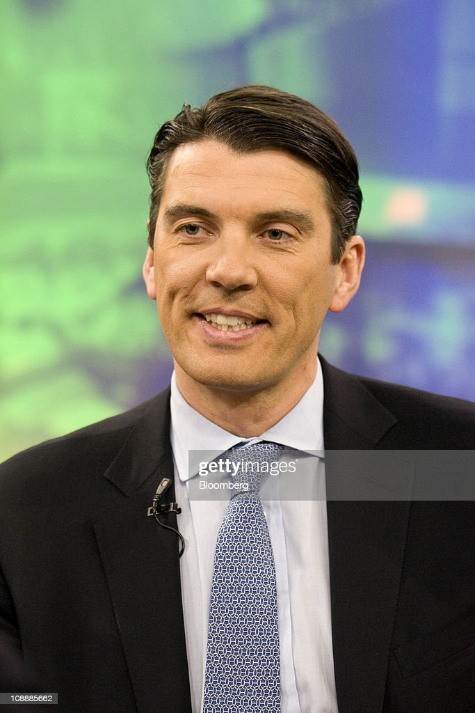 Tim Armstrong, chief executive officer of AOL Inc., smiles during a Bloomberg Television interview in New York, U.S., on Monday, Feb. 7, 2011. AOL Inc. agreed to buy the Huffington Post for $315 million as the internet company spun off from Time Warner Inc. increases its investments in online content to help revive growth in advertising revenue. Photographer: Jonathan Fickies/Bloomberg via Getty Images