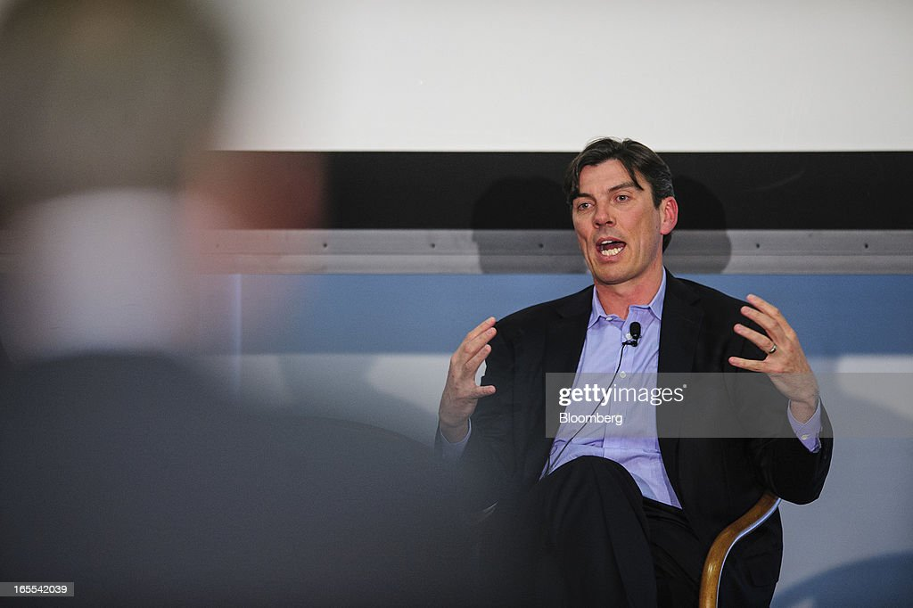 Tim Armstrong, chief executive officer of AOL Inc., speaks at the Society of American Business Editors and Writers (SABEW) 2013 Spring Conference in Washington, D.C., U.S., on Thursday, April 4, 2013. AOL today announced a dual-syndication agreement for video content with Publishing Group of America. Photographer: Pete Marovich/Bloomberg via Getty Images