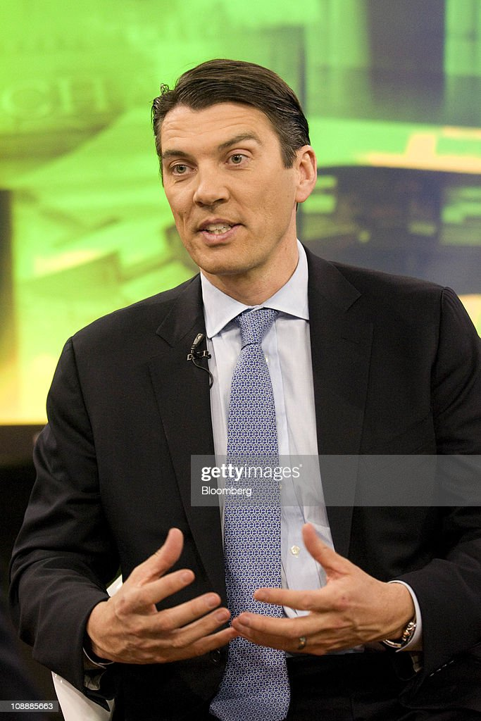 Tim Armstrong, chief executive officer of AOL Inc., speaks during a Bloomberg Television interview in New York, U.S., on Monday, Feb. 7, 2011. AOL Inc. agreed to buy the Huffington Post for $315 million as the internet company spun off from Time Warner Inc. increases its investments in online content to help revive growth in advertising revenue. Photographer: Jonathan Fickies/Bloomberg via Getty Images
