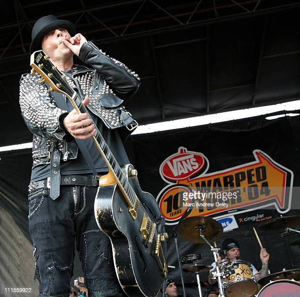 Tim Armstrong of Rancid during 2004 Vans Warped Tour 10th Anniversary Reunion Show Boston at Foxboro Stadium in Boston Massachusetts United States