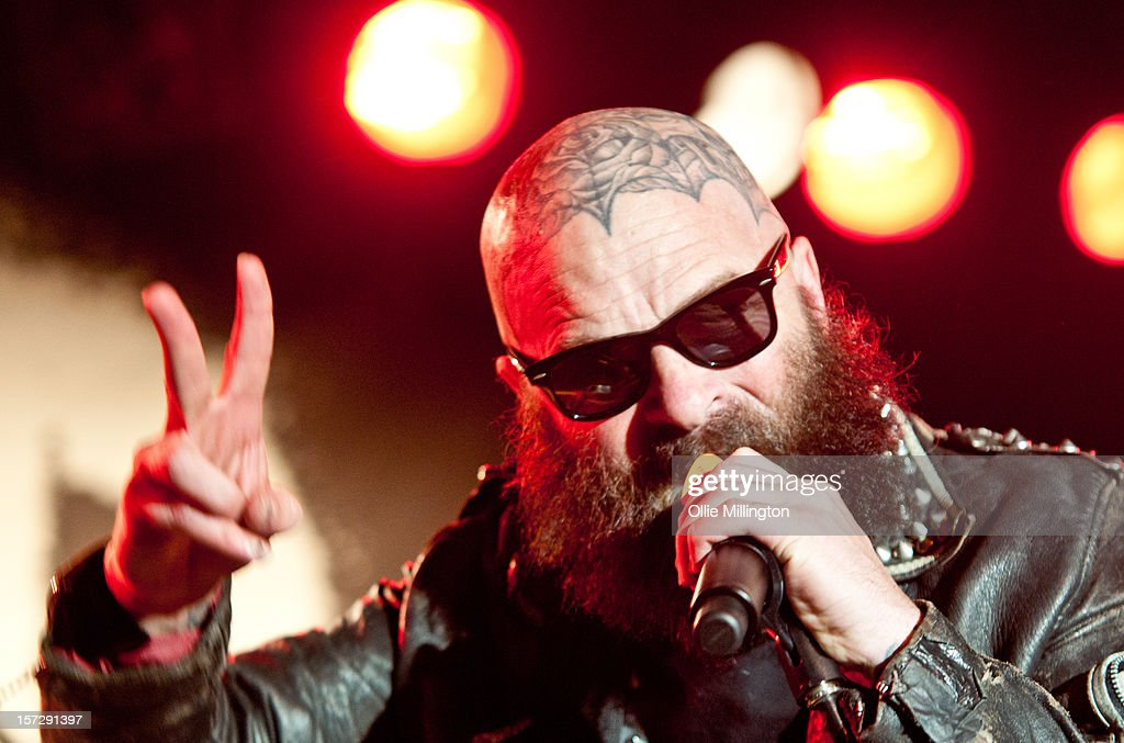 Tim Armstrong of Rancid performs during the first English night of the 20th anniversary tour onstage at Rock City on December 1, 2012 in Nottingham, England.