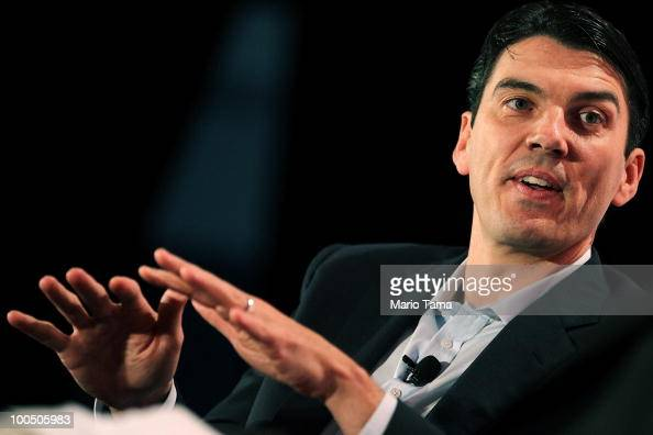 Tim Armstrong speaks at the TechCrunch Disrupt Conference at St John�s Center Studio May 25 2010 in New York City The conference gathers innovators...