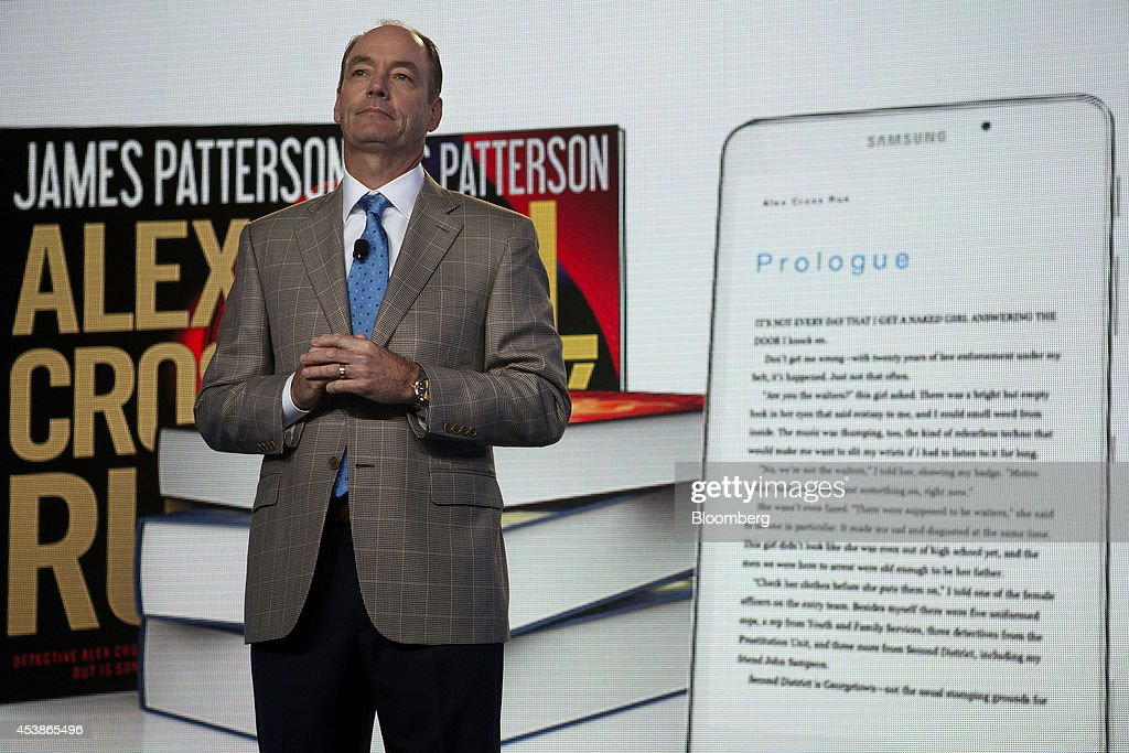 Tim Baxter president of Samsung Electronics America introduces the new Samsung Galaxy Tab 4 Nook at a Barnes Noble store in New York US on Wednesday...