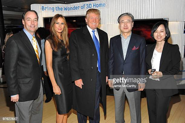 Tim Baxter President Samsung US CED Melania Trump Donald Trump BK Yoon President of Visual Display Business Samsung Electronics and Sue Shim Senior...