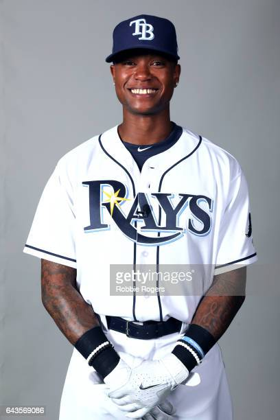 Tim Beckham of the Tampa Bay Rays poses during Photo Day on Saturday February 18 2017 at Charlotte Sports Park in Port Charlotte Florida