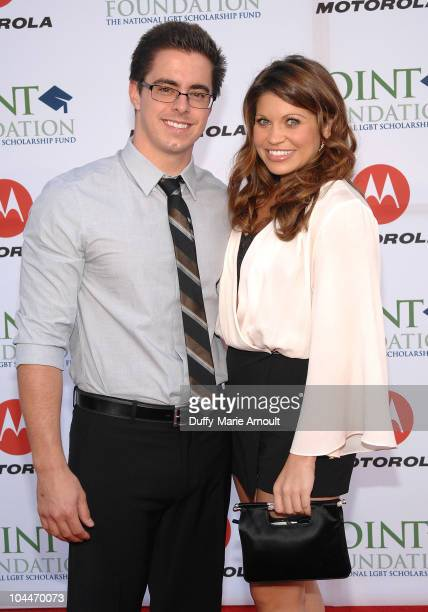 Tim Belusko and Danielle Fishel attend the 4th Annual Point Honors Gala at Raleigh Studios on September 25 2010 in Los Angeles California