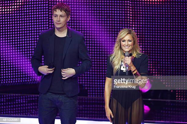 Tim Bendzko and Helene Fischer attend the Echo Award 2014 show on March 27 2014 in Berlin Germany