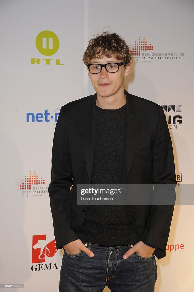 Tim Bendzko attends the 'Musik Hilft' Charity Dinner at the Grill Royal on March 20, 2013 in Berlin, Germany.