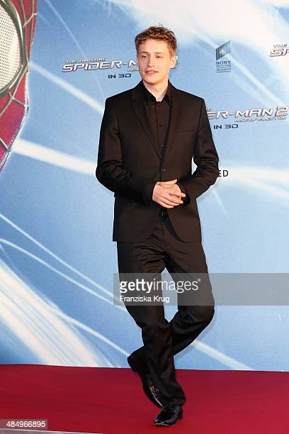 Tim Bendzko attends the 'The Amazing SpiderMan 2 Rise Of Electro' Berlin Premiere at Sony Center on April 15 2014 in Berlin Germany