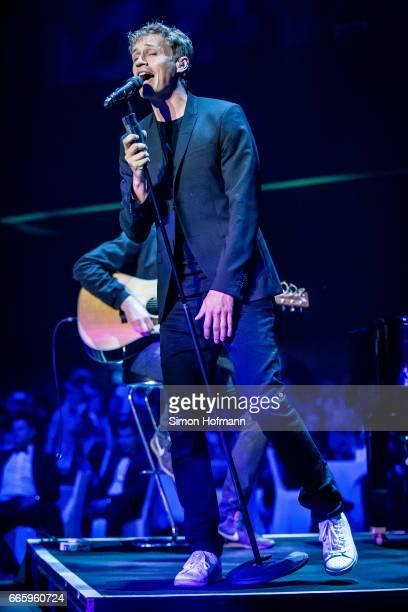 Tim Bendzko performs during the Radio Regenbogen Award 2017 at Europapark on April 7 2017 in Rust Germany