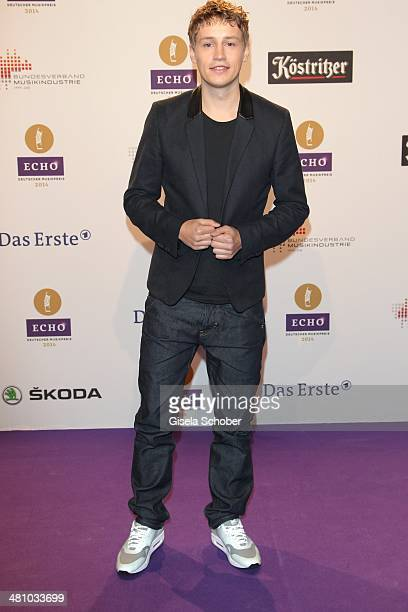 Tim Bendzko poses on the red carpet prior the Echo award 2014 at Messe Berlin on March 27 2014 in Berlin Germany