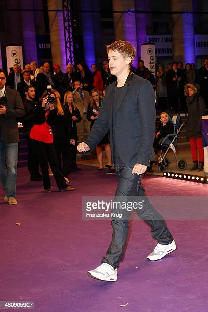 Tim Bendzko poses on the red carpet prior the Echo award 2014 on March 27 2014 in Berlin Germany