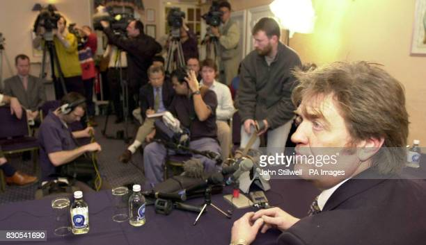 Tim Blackman the father of missing British bar hostess Lucie Blackman talking to media at a press conference in Ryde on the Isle of Wight Police...