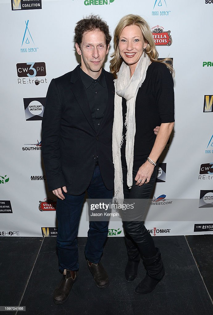 Tim Blake Nelson and actress Joey Lauren Adams attend the Creative Coalition's Sundance Film Festival: Passion...A Dinner Of Indie Chic at The Sky Lodge on January 18, 2013 in Park City, Utah.