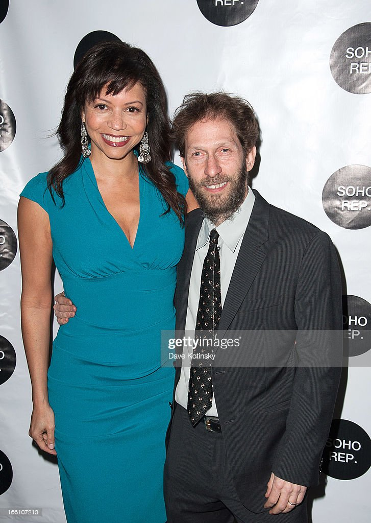 Tim Blake Nelson and Gloria Reuben attends Soho Rep's 2013 Spring Gala on April 8, 2013 in New York, United States.