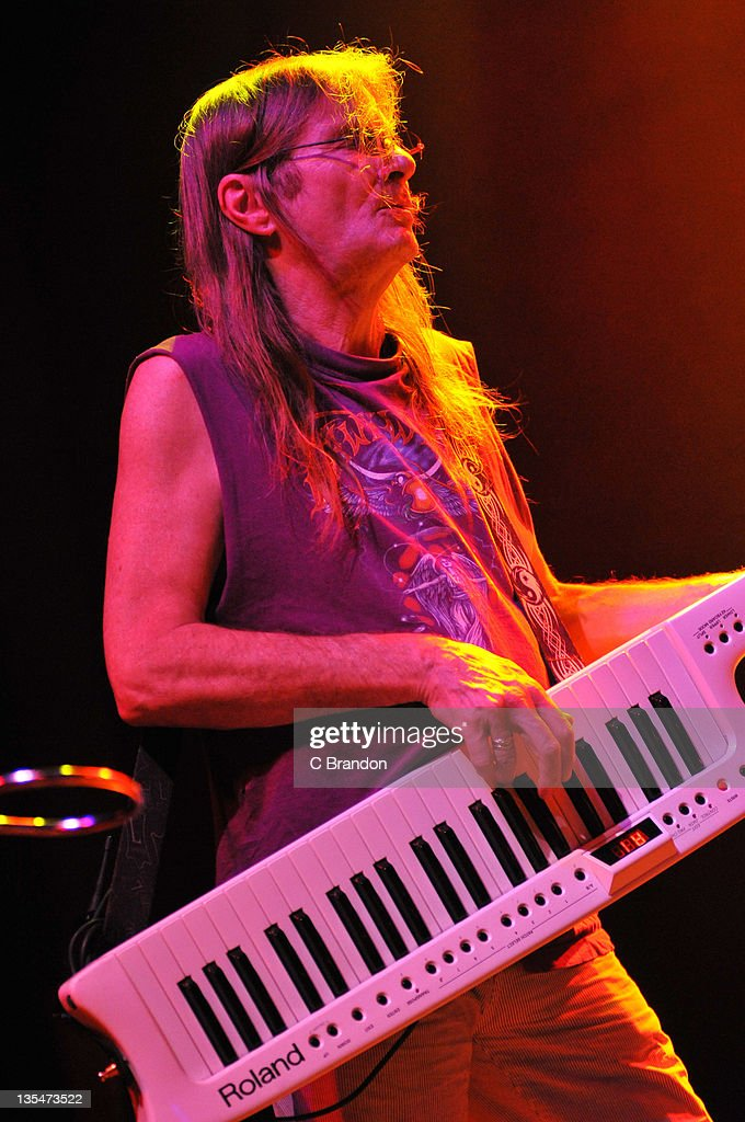 Tim Blake of Hawkwind performs on stage at Shepherds Bush Empire on December 10, 2011 in London, England.