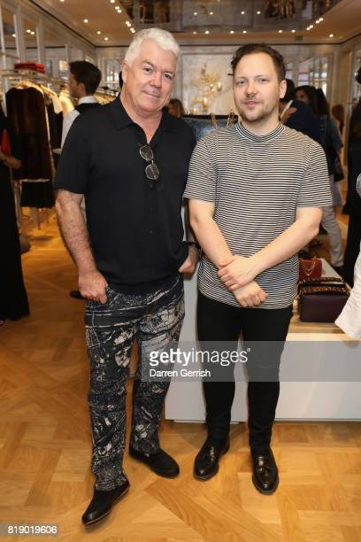 Tim Blanks and Alexander Fury attend the Dior cocktail party to celebrate the launch of Dior Catwalk by Alexander Fury on July 19 2017 in London...