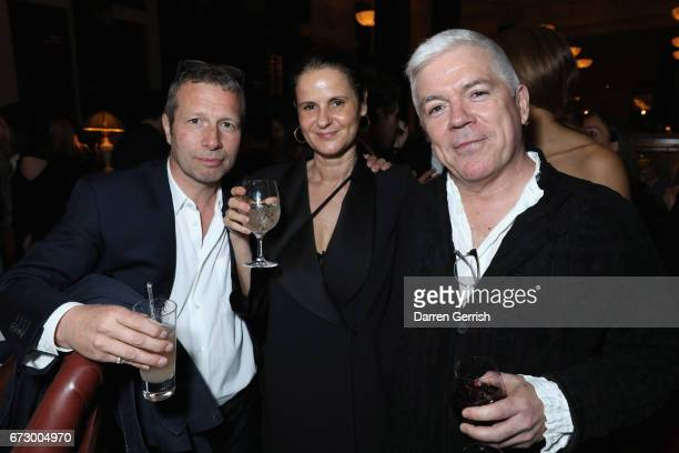 Tim Blanks and guests attend Roland Mouret's The Dinner of Love at Cecconi's a preopening dinner at The Ned on April 25 2017 in London England