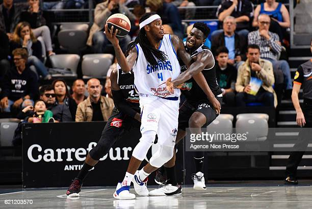Tim Blue of Antibes during the Pro A match between Antibes sharks and JDA Dijon on November 4 2016 in Antibes France