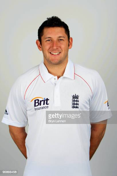 Tim Bresnan of England poses for the team portraits at the ECB Centre at University on October 28 2009 in LoughbroughEngland