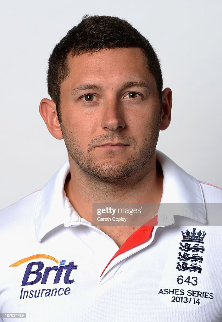 Tim Bresnan poses during an England cricket headshots session at the InterContinental Sydney on November 11, 2013 in Sydney, Australia.