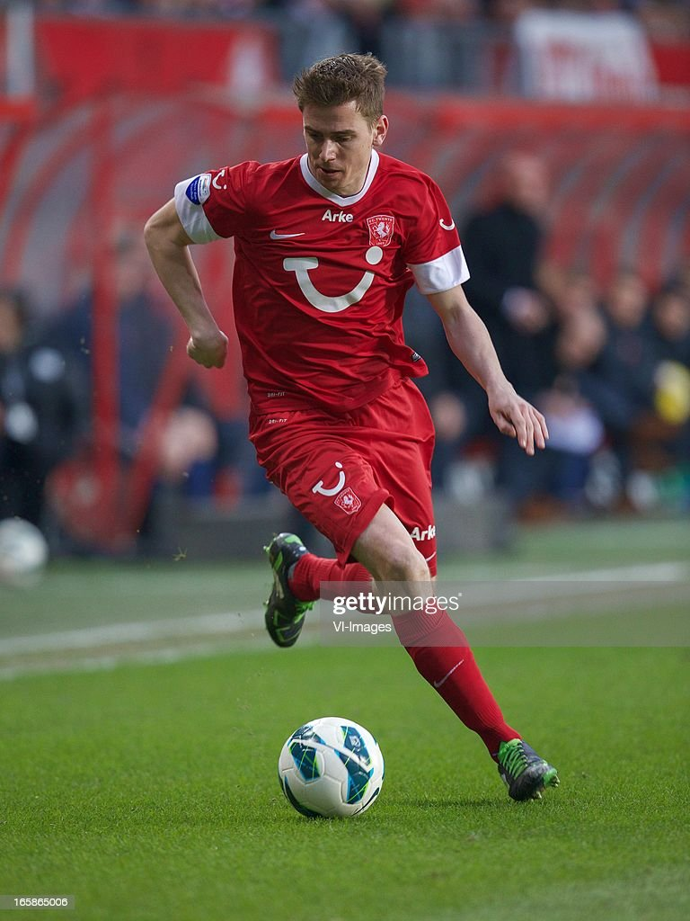 Tim Breukers of FC Twente during the Dutch Eredivisie match between FC Twente and Roda JC at the Grolsch stadium on April 6, 2013 in Enschede, The Netherlands