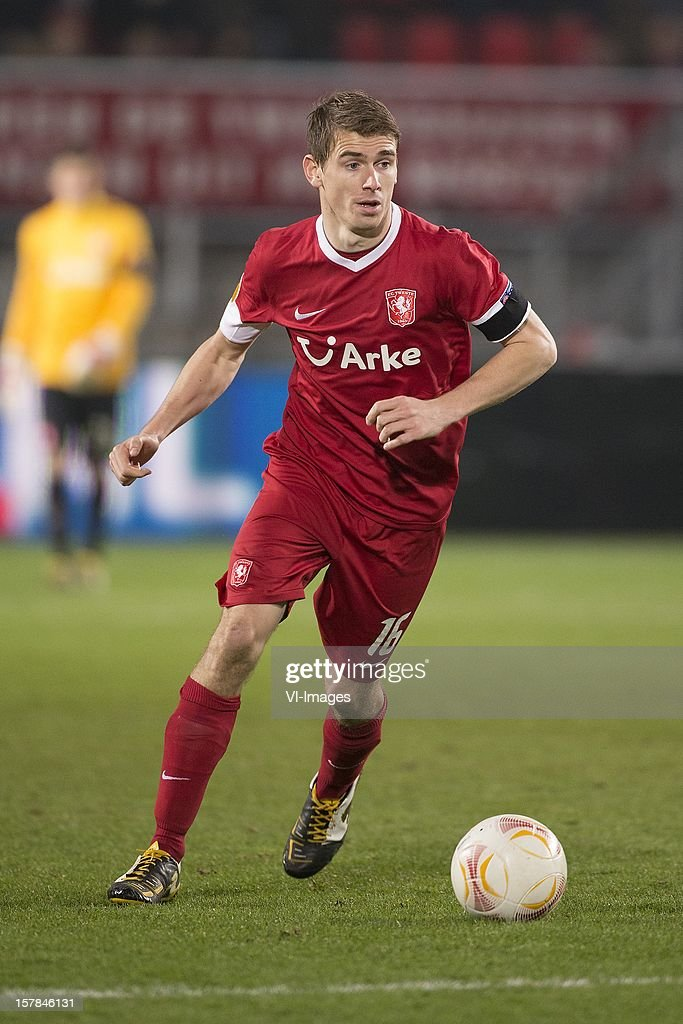 Tim Breukers of FC Twente during the Europa League match between FC Twente and Helsingborgs IF at the Grolsch Veste on December 6, 2012 in Enschede, The Netherlands.