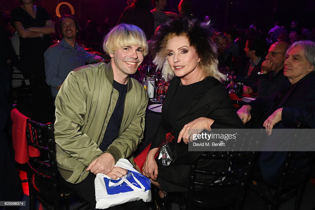 Tim Burgess (L) and Debbie Harry attend a drinks reception at The Stubhub Q Awards 2016 at The Roundhouse on November 2, 2016 in London, England.