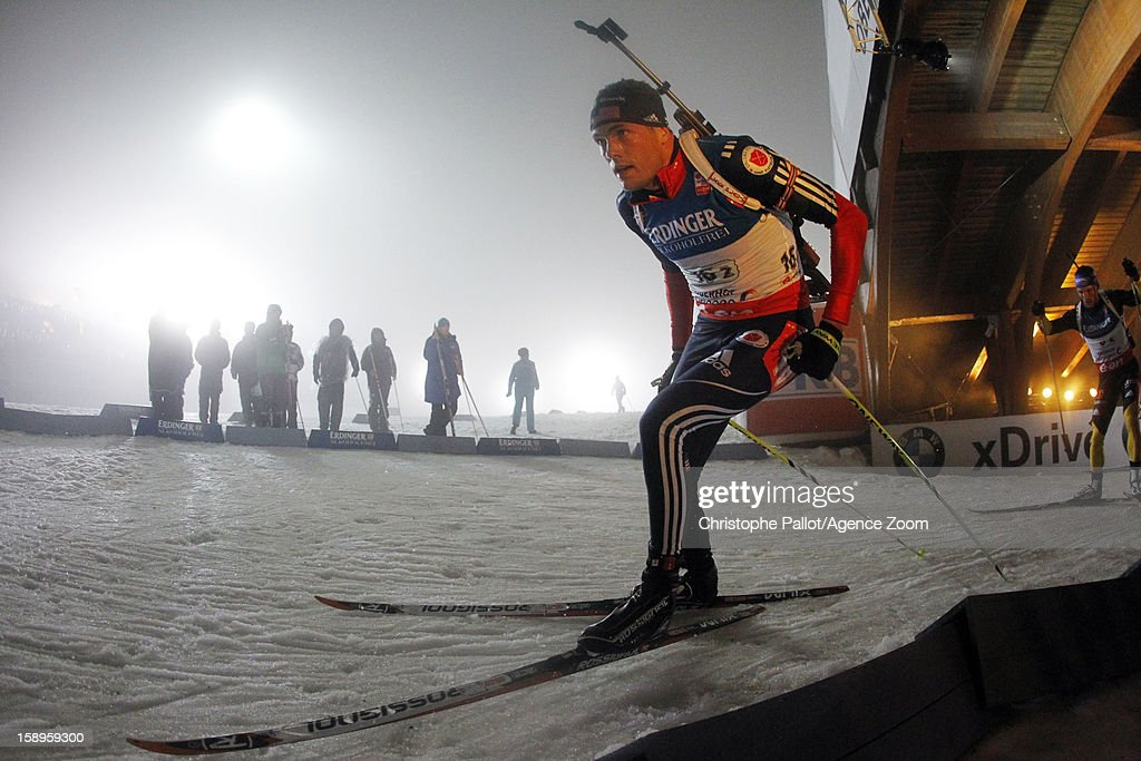 Tim Burke of the USA competes during the IBU Biathlon World Cup Men's Relay on January 04, 2013 in Oberhof, Germany.
