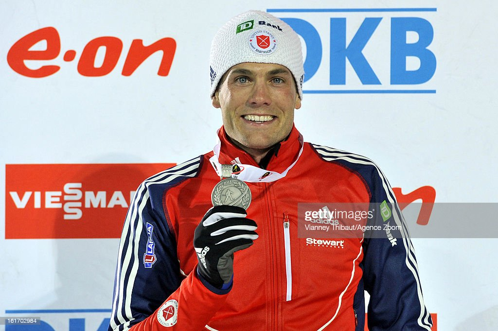 Tim Burke of the USA takes 2nd place place during the IBU Biathlon World Championship Men's 15km Individual on February 13, 2013 in Nove Mesto, Czech Republic.