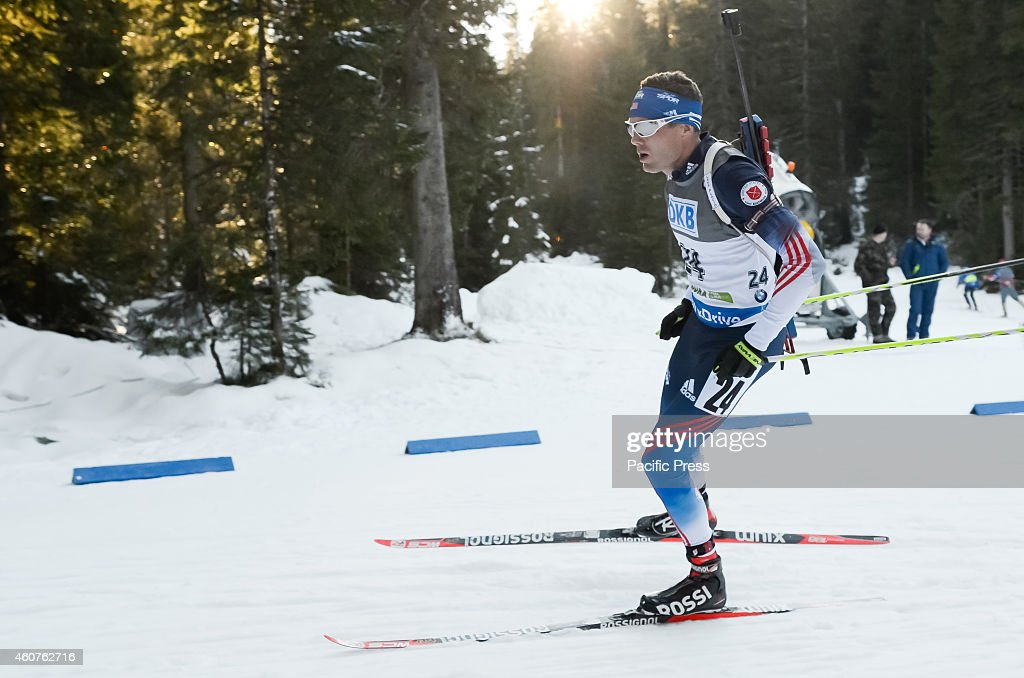 <a gi-track='captionPersonalityLinkClicked' href=/galleries/search?phrase=Tim+Burke+-+Biathlete&family=editorial&specificpeople=816786 ng-click='$event.stopPropagation()'>Tim Burke</a> (USA) on the course during the IBU Biathlon World Cup 2014 race on Pokljuka.